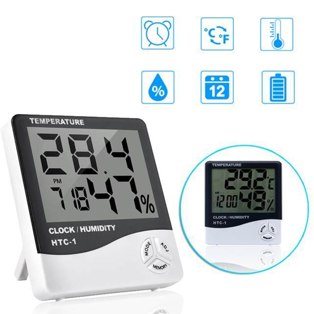 Измерение влажности при помощи термогигрометра
