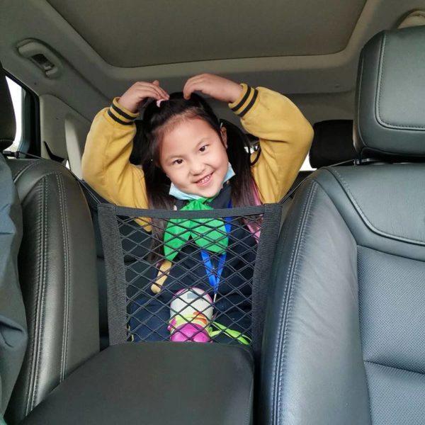Эластичная сетка на спинку сиденья автомобиля